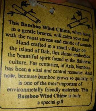 Bamboo Wind Chime is truly a special gift