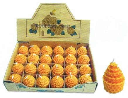 Beeswax Beehive Votive Coiled Candles