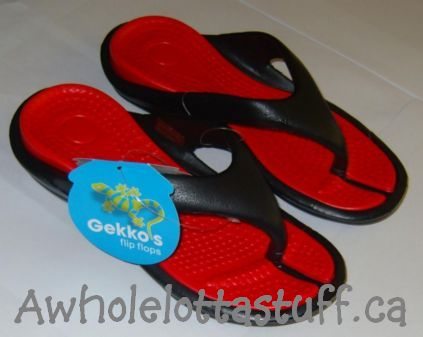 Gekko's  Flip Flops Red/ Black