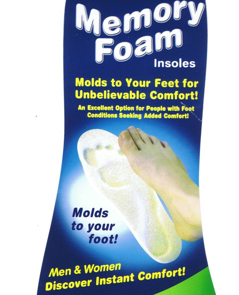 Buy Memory Foam Shoes Insole Massager Increase Stability Comfort