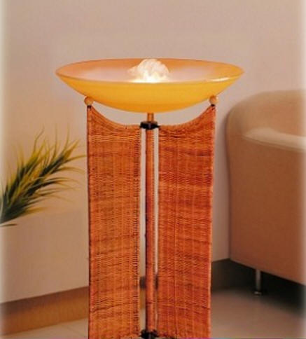 Wicker Floor Length Mist Lamp Fogger