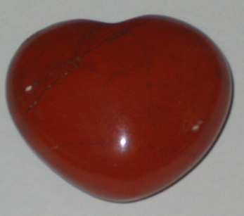 Red Jasper Puffy Heart