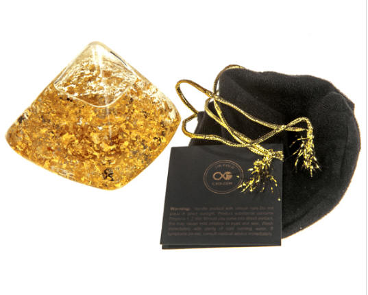Pure Gold Leaf Pyramid