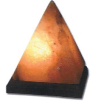 Himalayan Crystal Salt Pyramid Lamp