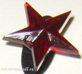 Gem Shoe Charm Red Star