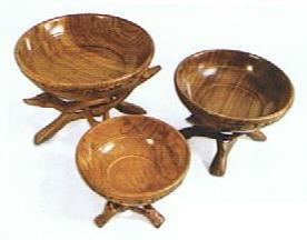 Solid Wood Bowls & Cobra Stands